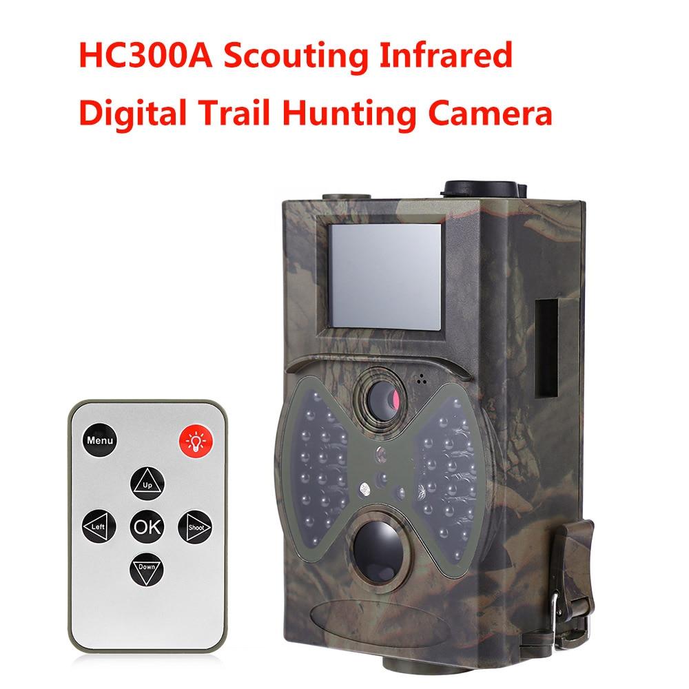Chasse Caméra Scoutisme HD 1080 p 8MP Numérique Infrarouge Trail Caméras HC300A Jour Nuit Vision Extérieure Hunter Cam
