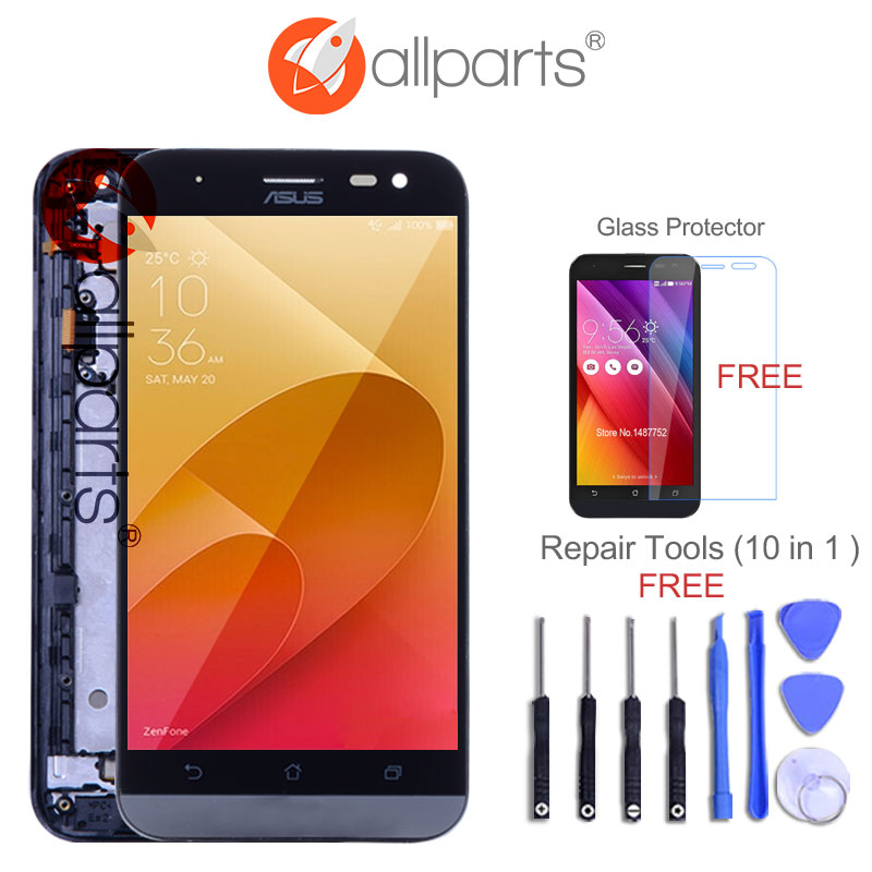 ORIGINAL 5.0'' For ASUS Zenfone 2 Laser ZE500KL LCD Display Touch Screen with Frame ZE500KL LCD ZE500KG Z00ED Screen Replacement