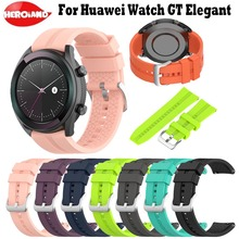 Sport Rubber Wrist Strap For HUAWEI Smart WATCH GT Elegant Edition Watch Bands 42mm Bracelet