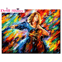 Pattern Rhinestones Pictures Diy Diamond Painting Cross Stitch Handmade 5D Diamond Embroidery Mosaic Abstract Music Beauty