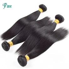 Panse Hair 3 csomópontok tételenként nem Remy Malaysian Hair Straight Természetes fekete hajszövés kevert 8-30 hüvelyk
