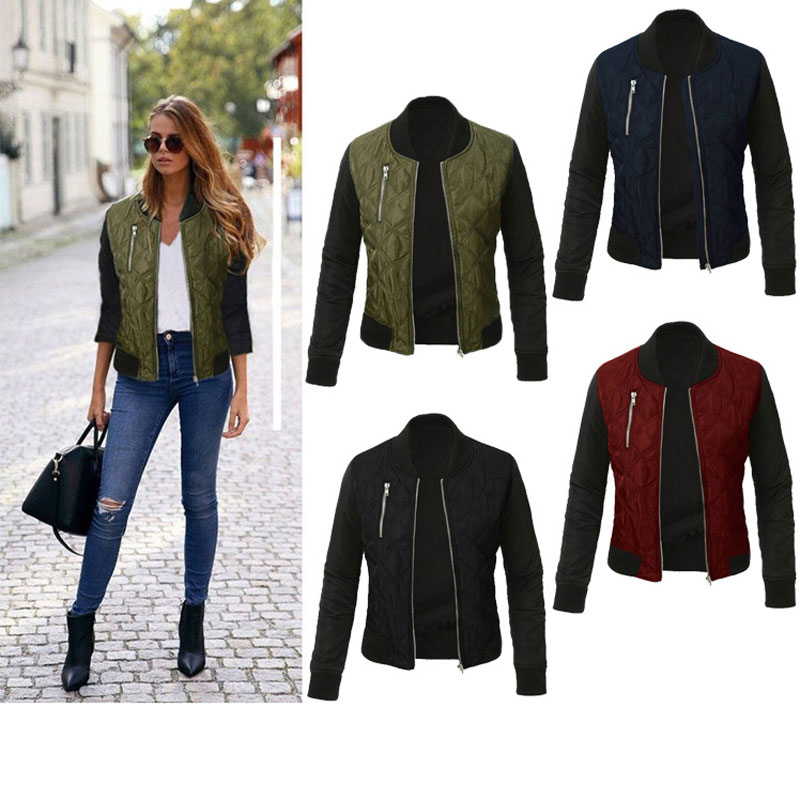 HEE GRAND Plus Size 3XL Basic Coat Women Autumn 2018 Casual Long Sleeve Bomber Jackets Winter Padded Cotton Coats Outwear WWJ933