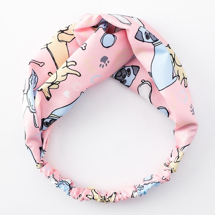 Korean Fashion Cute Cartoon Print Headbands Bunny Ear Playful Hairbands Bandage On Head Lovely Hair Accessories For Women 3