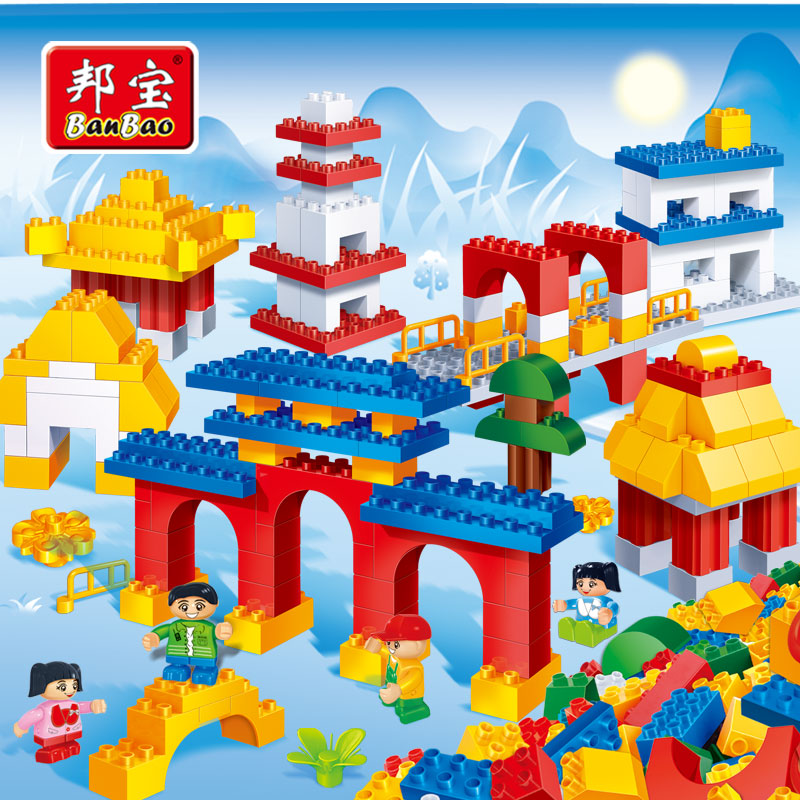 BanBao Traditional Building Larger Particles Bricks Assembled Educational Building Blocks Toys For Kids Children Gifts 6511