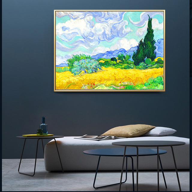 Famous World Abstract Van Gogh Irises Starry Sky Canvas Wall Art