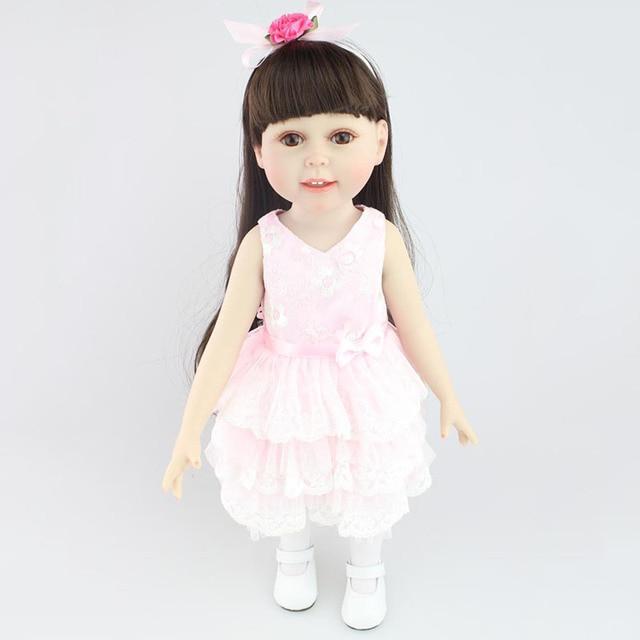 18 \'\'45 cm American Girl Muñecas niños Playmate muñeca Rosa vinilo ...
