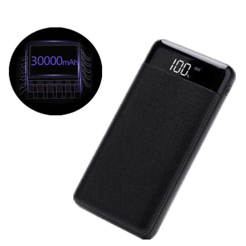 30000 mah batterie externe Batterie Externe batterie externe 2 USB LCD Affichage batterie externe Portable Mobile Téléphone Chargeur pour Xiao mi mi iphone