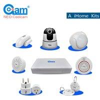 NEO COOLCAM Een iHome Kits HD 720 P Wifi IP Camera Surveillance Wireless Security Slimme Domotica Linkage Smart Home Gateway-in Domotica van Veiligheid en bescherming op