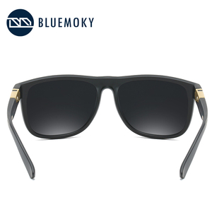 Image 4 - BLUEMOKY مربع أسود نظارات شمسية للرجال UV400 الاستقطاب العلامة التجارية مصمم النظارات الشمسية الرجال القيادة بولارويد ظلال للرجال 2019