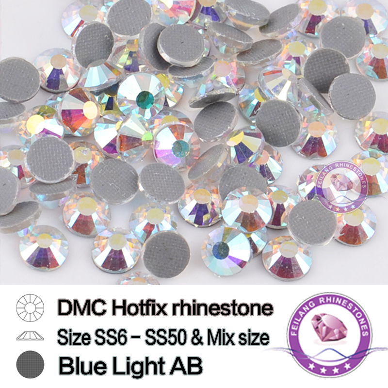 Mix Sizes Blue Light Crystal AB...