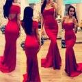Элегантный моды длинные красные платья V шея короткая длинные-рукава уникальный русалка Vestido де феста формальные для свадьбы ну вечеринку платье