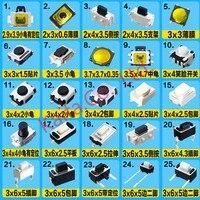 500 adet Çeşitli Anahtar Push Button Dokunmatik Mikro Anahtarı sıfırlama Mini yaprak Kiti Araba uzaktan kumanda Tablet PC Onarım Bölümü özel yama
