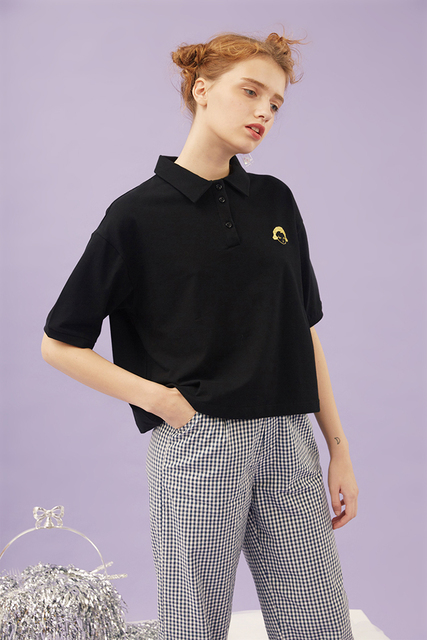 Have these women's contrast polo shirts custom embroidered with your  company logo. Choose the color