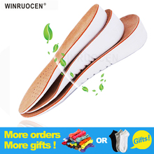 WINRUOCENLeather increased insole 1.5CM-3.5CM Cushion Shoe Lift Height Increase Heel Insoles Pair Taller For Men/ Women shoes