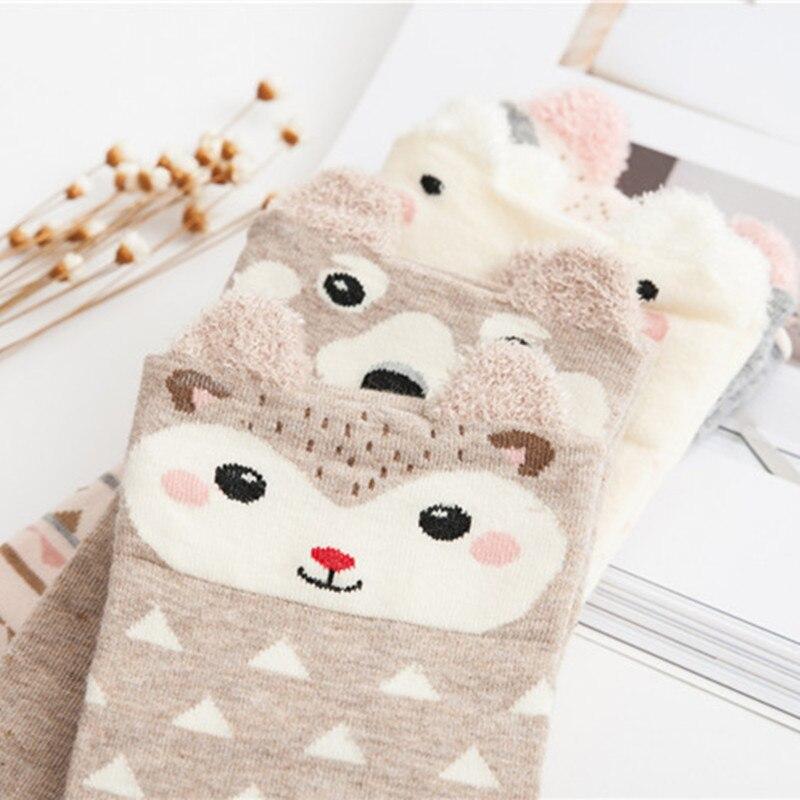 2018 New Lovely Cartoon Women Socks High Quality Cotton Sox Japanese Fashion Style Socks Autumn Winter Warm Socks For lady Girls