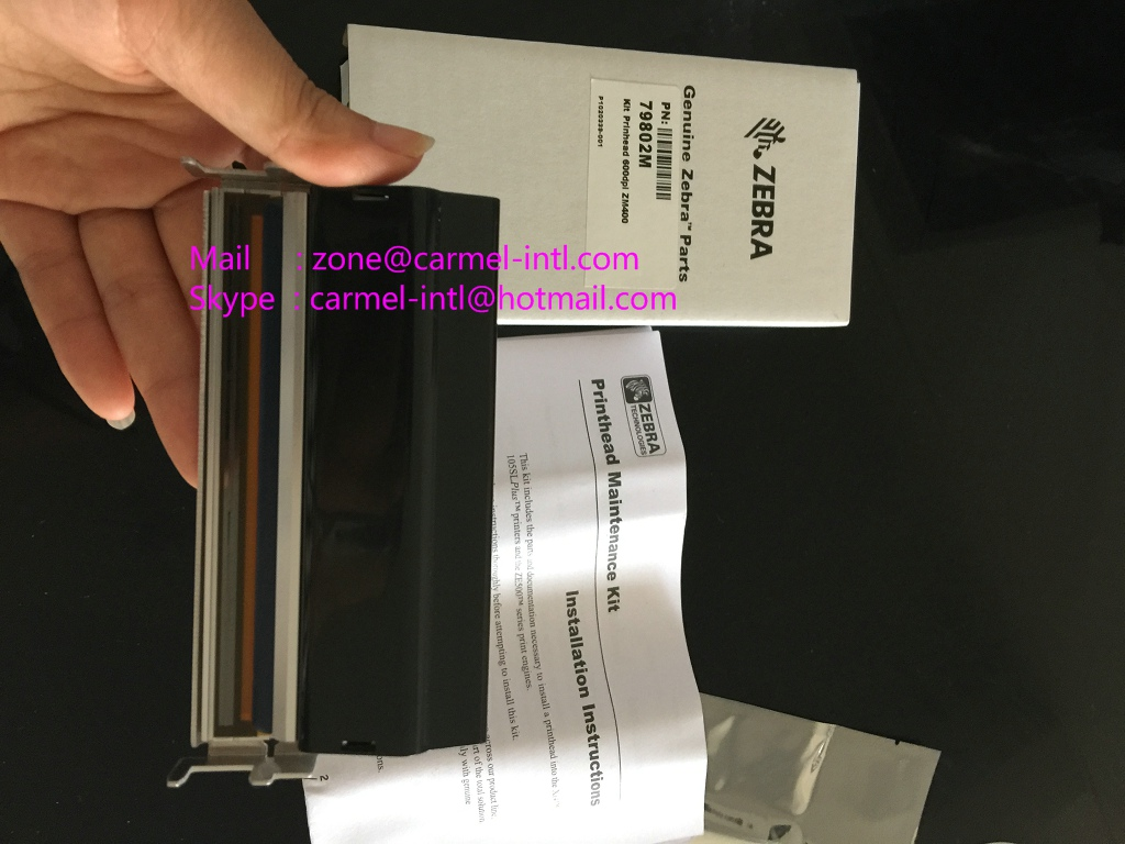 Zebra 79802M ZM400 600DPI PRINTHEAD  Barcode Printhead 79802M  printer head New Original g32432 1m zebra 105sl printhead 203dpi new compatible105sl barcode printhead zebra g32432 1m thermal printhead