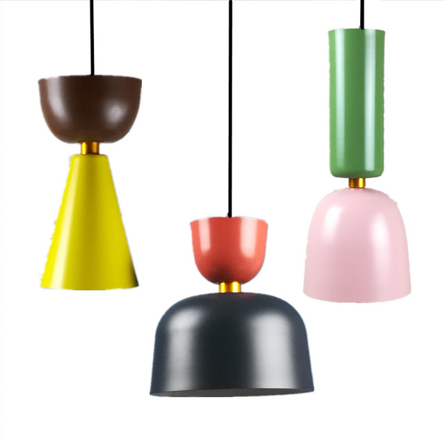 Us 41 31 10 Off Modern Indoor Lamp Pendant Light Europe Colorful Macarons Led Indoor Lighting Restaurant Bar Decorative Light Fixture Ac110 265v In