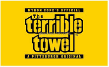 Pittsburgh Steelers Yellow Terrible Towel Flag Large Outdoor Flag 3′ x 5′ NFL MLB Fan Flag Banner brass metal holes Flag