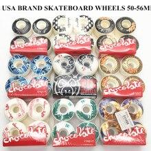 O Envio gratuito de Plástico 53mm Rodas Patins Rodas de Skate Rodas de Rua para Forma De Skate