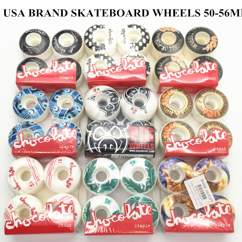 USA BRAND PRO Free Shipping 51mm -55mm GIRL Skateboard Wheels Street Skates Wheels PU Rodas For Shape Skate