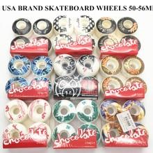 Free Shipping Chocolate Stout Plastic Blue 54mm Skate Deck Wheels 101A Hardness Rodas for Shape Skate цена