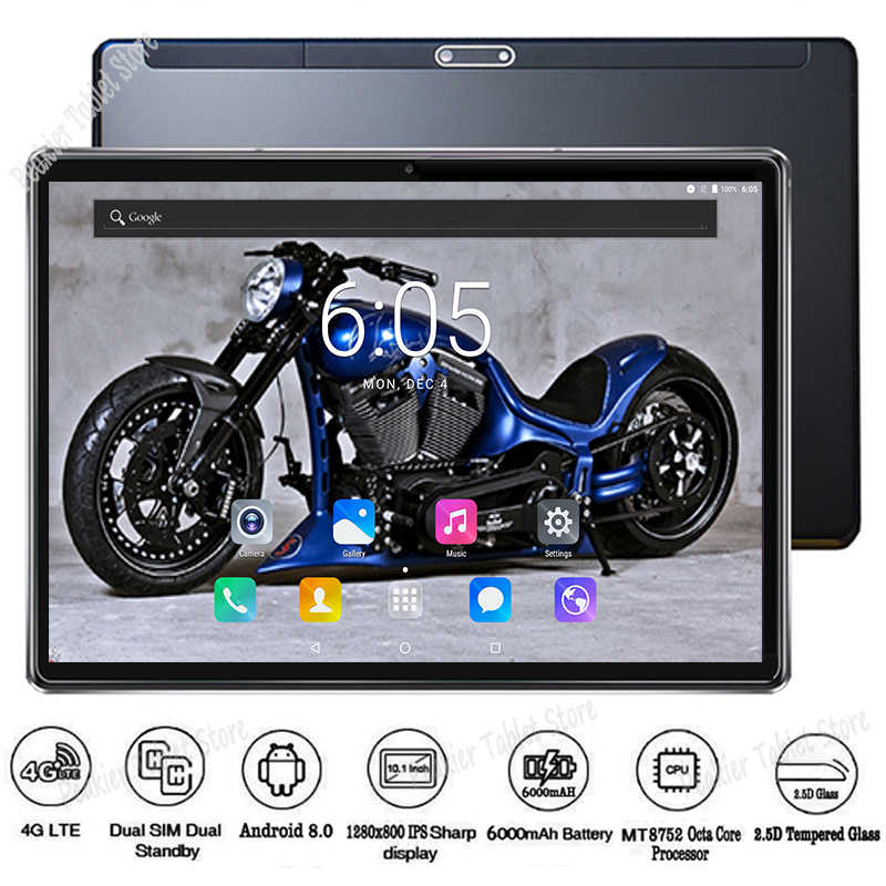 2019 New Version 10 inch Tablet PC Octa Core 4GB RAM 64GB ROM 1280*800 IPS 2.5D Tempered Glass GPS WiFi 10 10.1 Tablets PC+Gifts