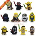 8pcs/lot Minions despicable me PVC Pins Badges Brooches collection Kid's Gift DIY charms fit Clothes Bags shoes decoration