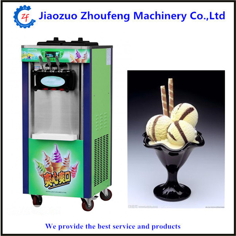 Electric icecream makers commercial three color soft serve ice cream machine