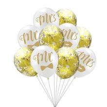 10 шт./лот Romatic Mr& Mrs конфетти латексный шар для свадьбы День святого Валентина украшения