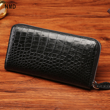 NMD Classic business style authentic crocodile belly zipper closing man long wallet coin purse crocodile leather male card purse