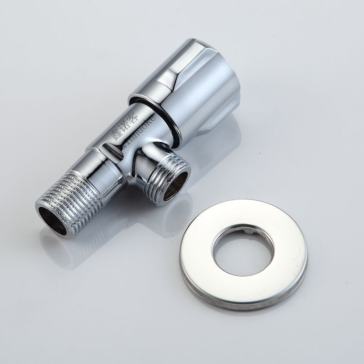 bathroom three rounds of bathroom thickening 4 points hot and cold triangular valve manufacturers straight batch