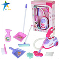 Simulation Appliances Toy Cleaner ABS plastic Cleaning Kit Tool Electric vacuum cleaner for kids Play house toys pinks 1:8