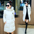 2016 New Winter Women parka wadded jacket Specials thickening Warm Luxury Long Cotton-Padded  cots white Clothing Hooded  Winter