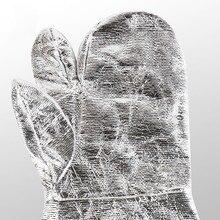 Бесплатная доставка 2 пар высокой температуры защитные фольги рабочие перчатки износостойкость тепловой изоляцией full lining.