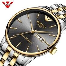 NIBOSI Mens Watches Top Brand  Luxury Quartz Montre Homme Minimalist Ultrathin Wrist Watches Waterproof Clock Relogio Masculino