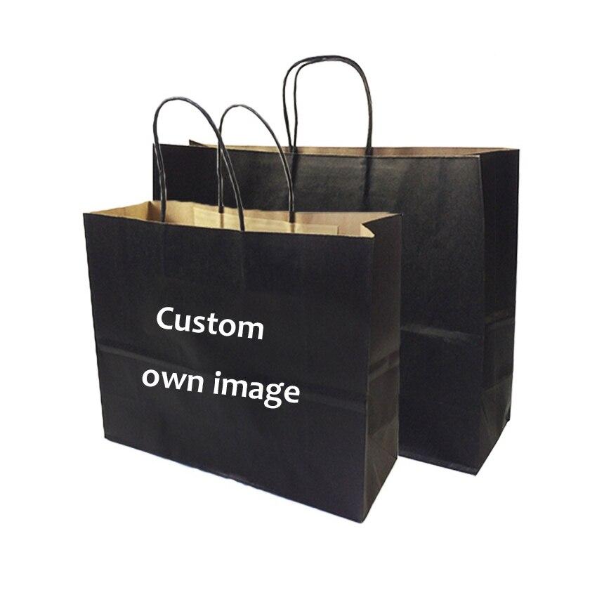 Impression personnalisée à emporter des sacs en papier de mode avec votre propre logo