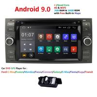 Android 9.0 Quad Core Double 2 Din Car DVD GPS Navigation Player Multimedia Player for For Ford/Mondeo/Focus/Transit/C MAX/S MAX