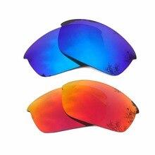 d8617a4cfa Naranja rojo espejo y hielo azul espejo polarizado lentes de reemplazo para  la chaqueta Flak marco 100% UVA y UVB