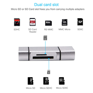 Image 3 - Baolyda SD Card Reader 3 in 1 USB Type C/Micro USB Male Adapter and OTG Function Portable Memory Card Reader for & PC & Laptop