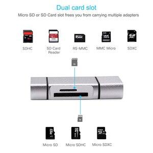 Image 3 - Baolyda czytnik kart SD 3 w 1 USB typu C/Micro USB męski Adapter i funkcją OTG przenośny czytnik kart pamięci do i komputera i laptopa