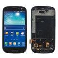 Novo lcd para samsung galaxy s3 neo gt-i9300i i9300i i9301 display lcd com a montagem da tela de toque + moldura do quadro, preto frete grátis