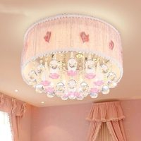 Children Chandeliers Nursery Chandelier Room Lamp Crystal Ceiling Pendant Round Lighting Led Light For Living Room