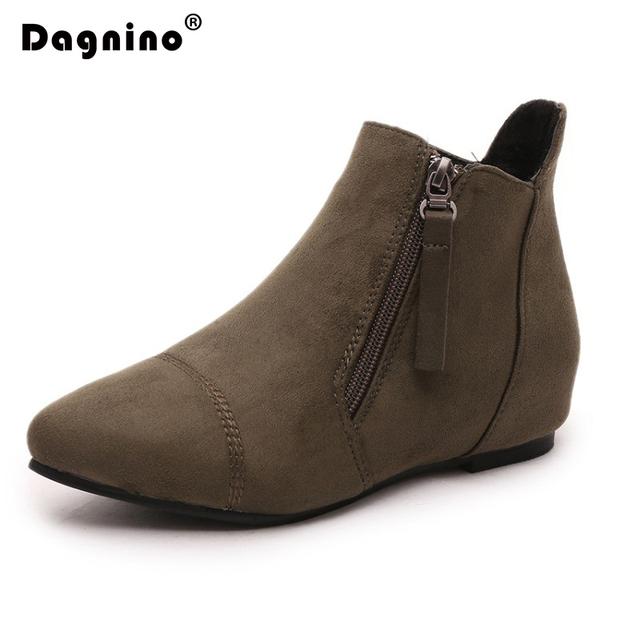 fd925aa804b29 DAGNINO Autumn Winter England Short Canister Bottom Woman Xue Ping With The  Shoe Side Zipper Chelsea Boots 40-44 Ankle Shoes