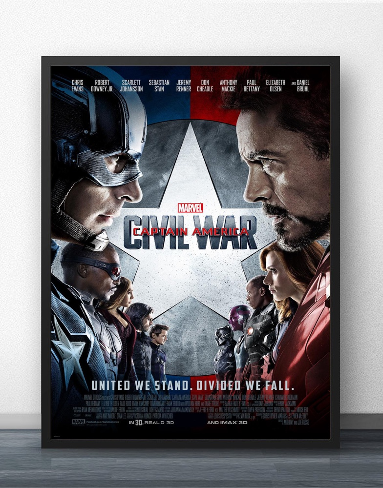 Captain America Civil War Movie Wall Decor Silk Prints Art Poster Paintings for Living Room No Frame image
