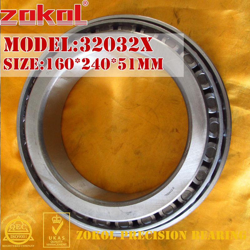 ZOKOL bearing 32032X 2007132E Tapered Roller Bearing 160*240*51mm 1pcs shlnzb taper roller bearing 32032 2007132e 160 240 51mm