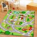 HUAHOO Crianças Tapete esteira do jogo Dos Miúdos Tapete Com Estradas Rua Da Cidade mapa crianças aprendizagem carpet jogar carpet tapetes infantis da menina do menino berçário