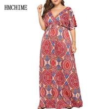 High Elastic Loose Women Long Dress Autumn Short Sleeve Deep V Neck Female Party Dress Plus