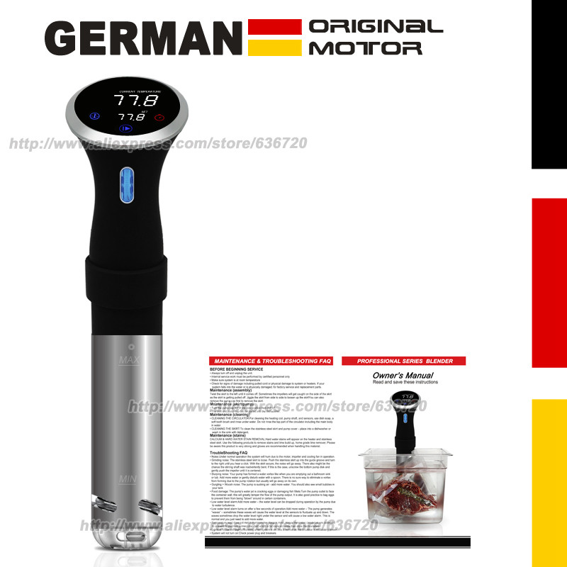 German original motor technology Motor. 1000 Watts, CS10001 Precision cooks Food sous...