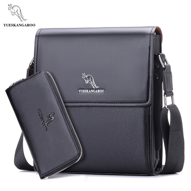 c7d8e664a723 YUES KANGAROO men messenger bag men leather bag designer famous brand  shoulder bag business briefcase crossbody bag for men