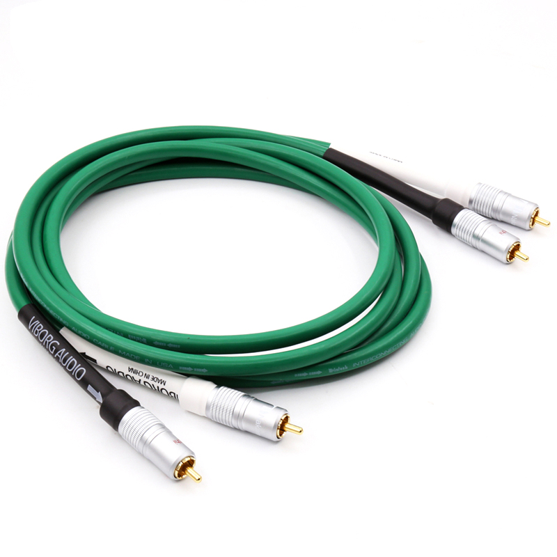 1pair High Quality HiFi Audio 2328 Pure Copper Extension RCA plug RCA interconnect cable